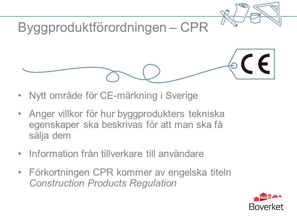 Byggproduktförordningen – CPR