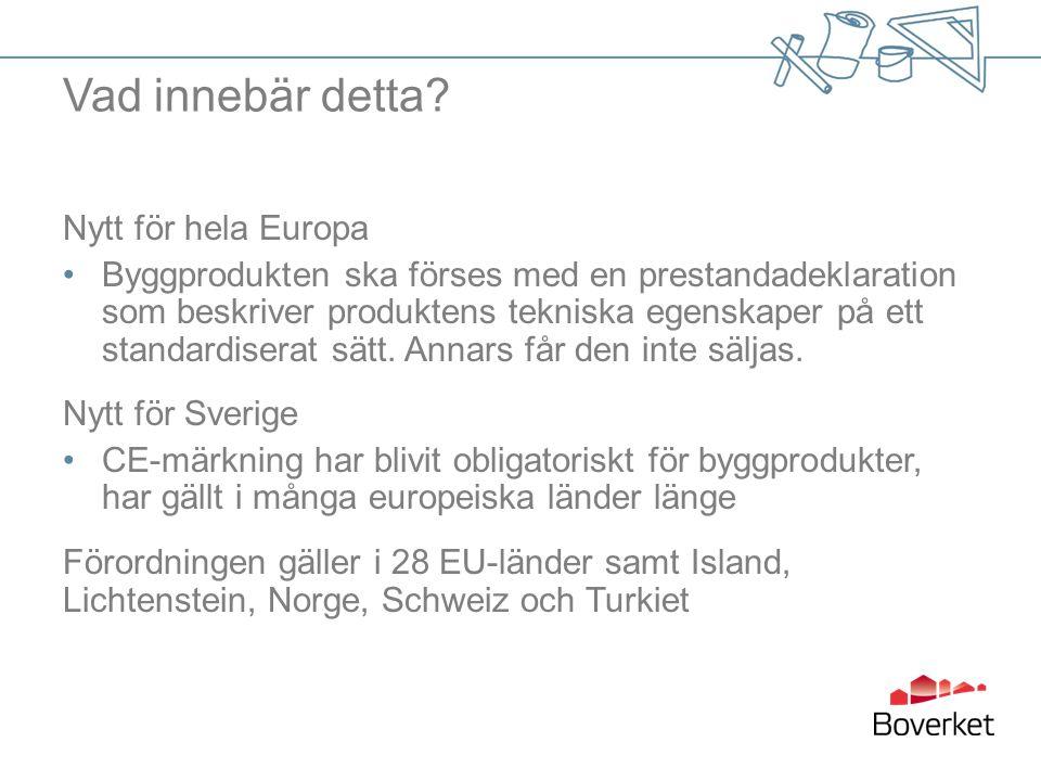 Vad innebär detta Nytt för hela Europa