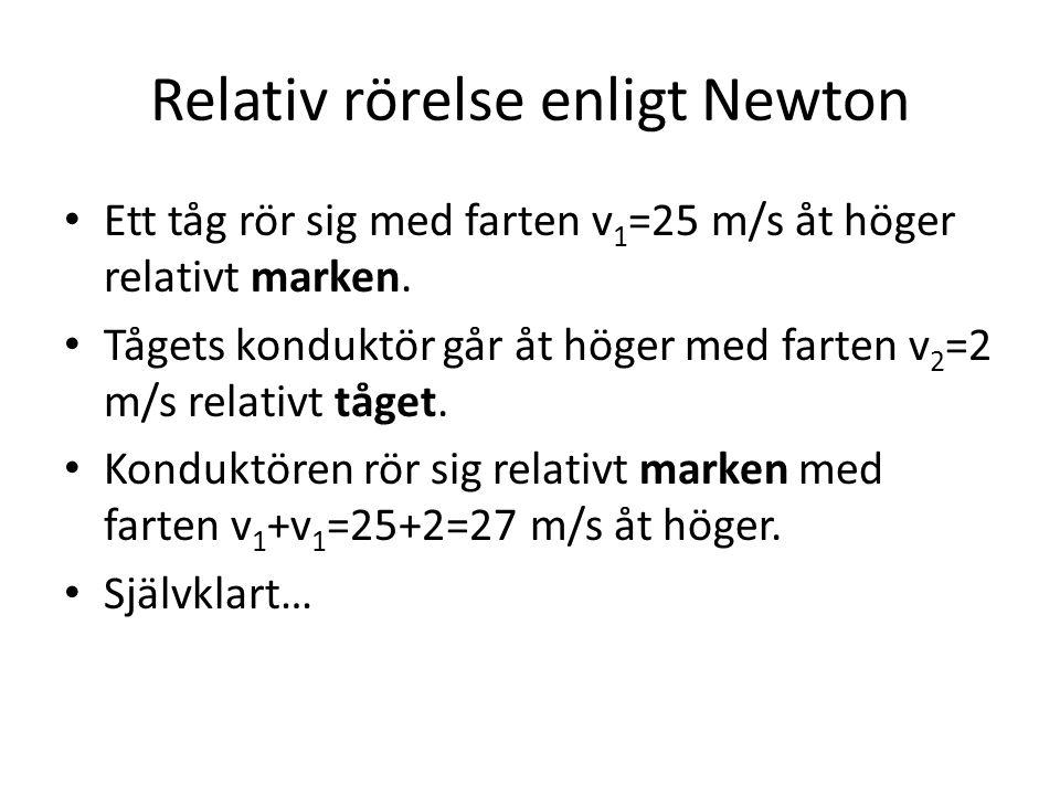 Relativ rörelse enligt Newton