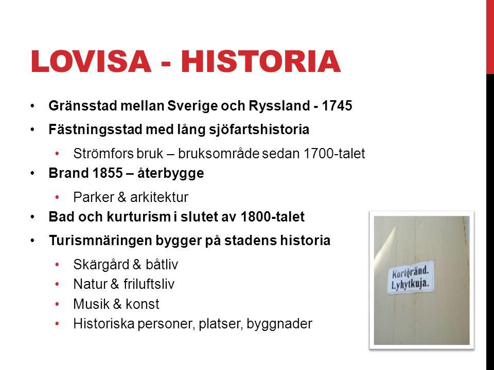 LOVISA - HISTORIA Gränsstad mellan Sverige och Ryssland - 1745
