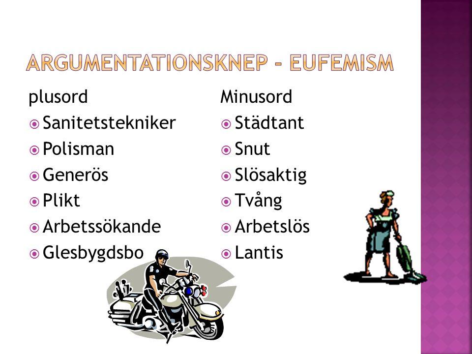 ARgumentationsknep - eufemism
