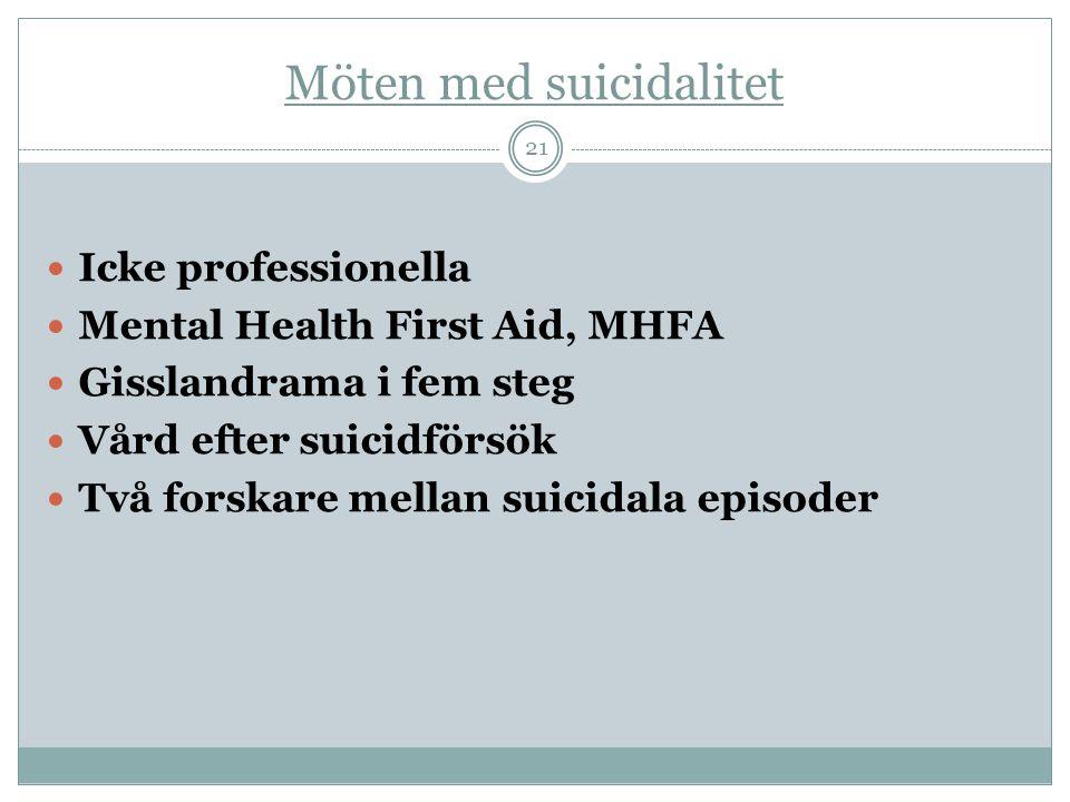 Möten med suicidalitet