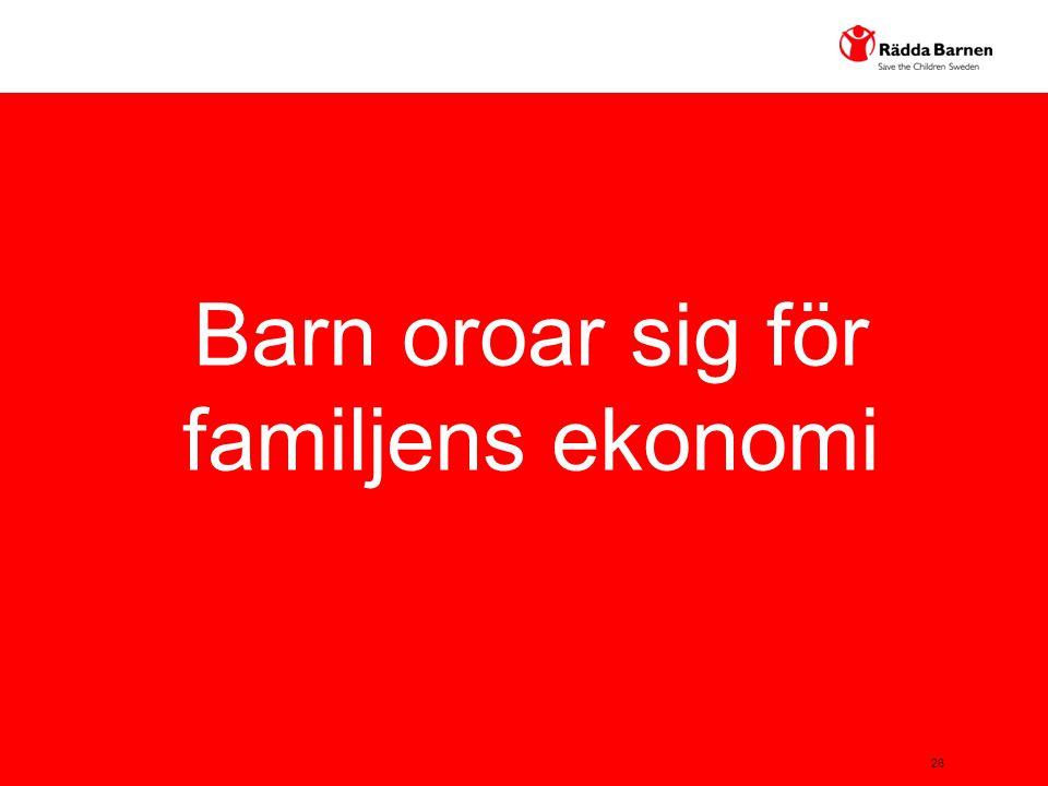Barn oroar sig för familjens ekonomi