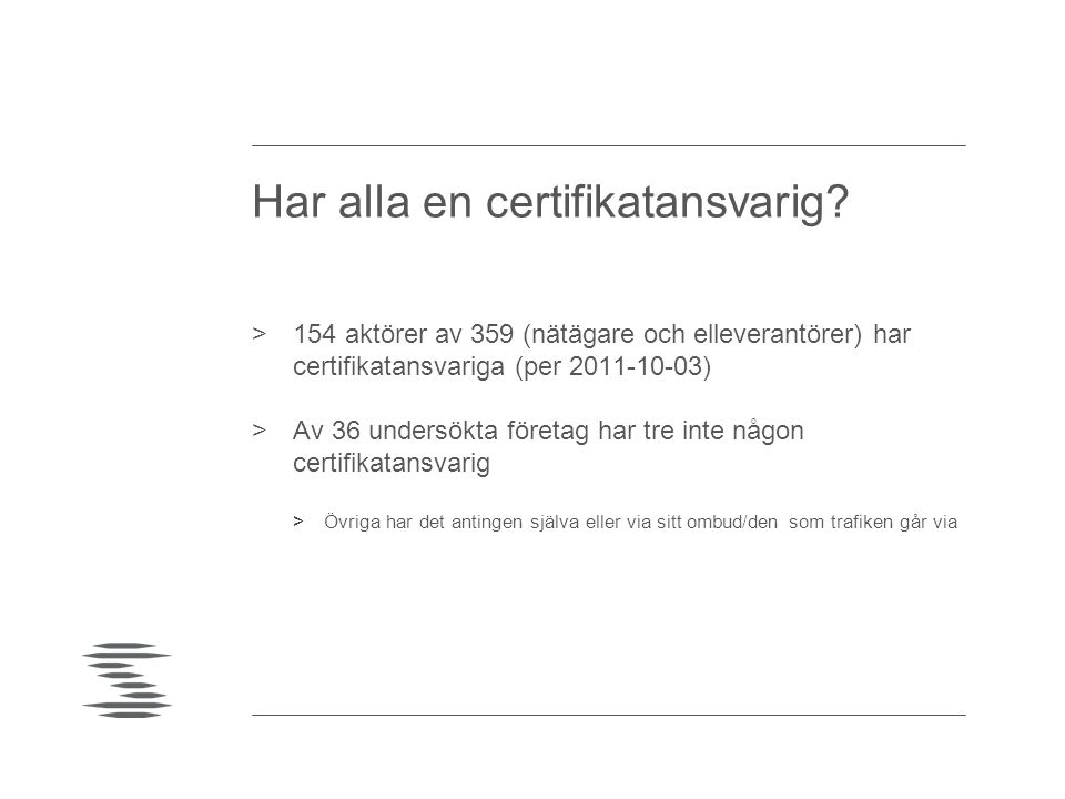 Har alla en certifikatansvarig