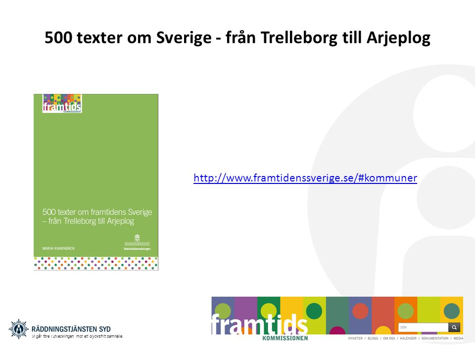 500 texter om Sverige - från Trelleborg till Arjeplog