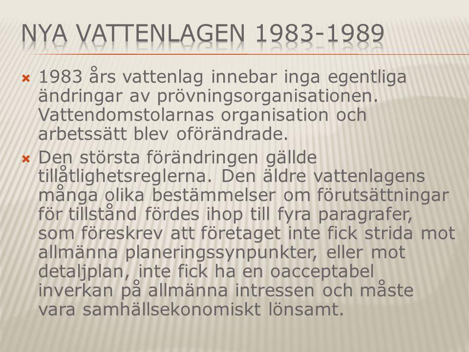 Nya Vattenlagen 1983-1989