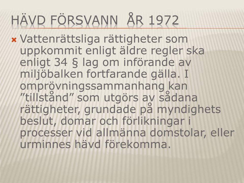 Hävd försvann År 1972