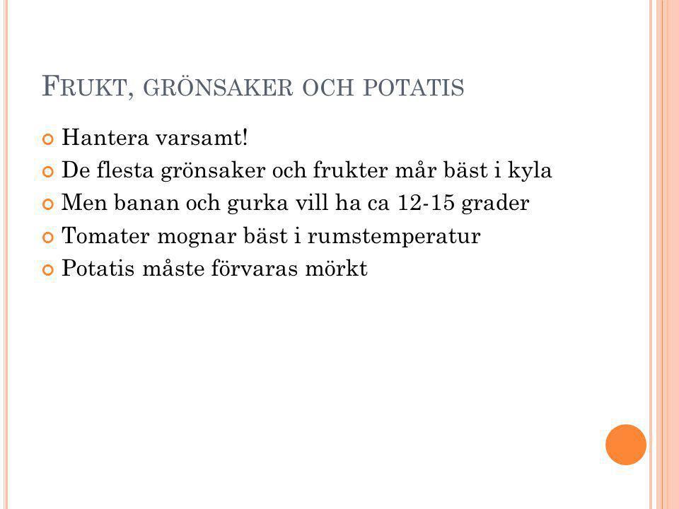 Frukt, grönsaker och potatis