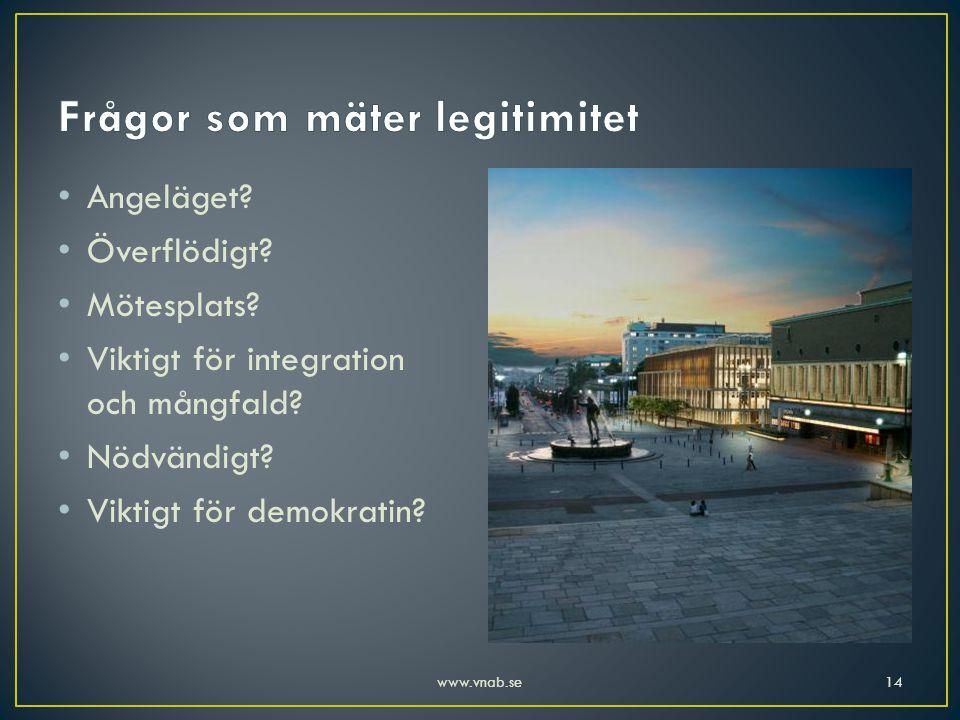 Frågor som mäter legitimitet