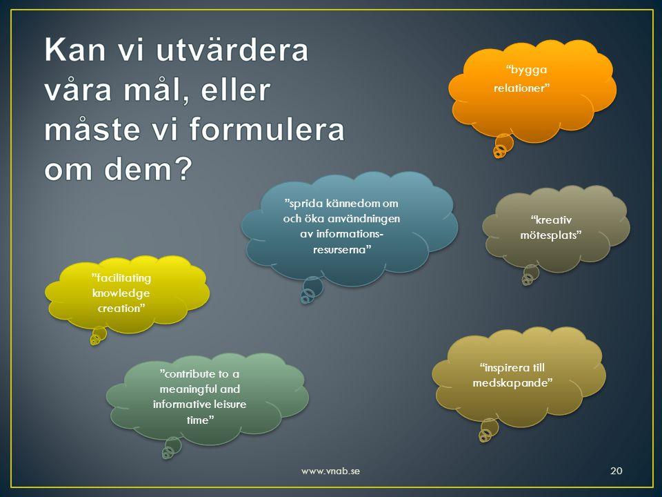sprida kännedom om och öka användningen av informations-resurserna