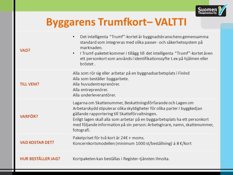 Byggarens Trumfkort– VALTTI
