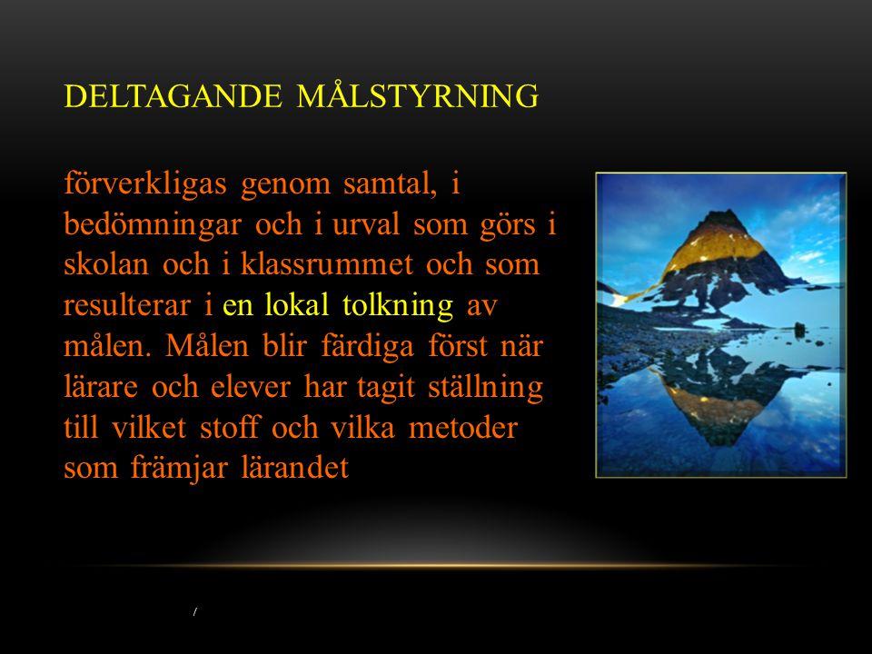 DELTAGANDE MÅLSTYRNING