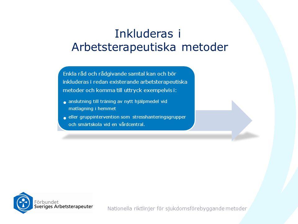 Inkluderas i Arbetsterapeutiska metoder