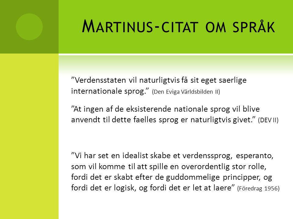 Martinus-citat om språk