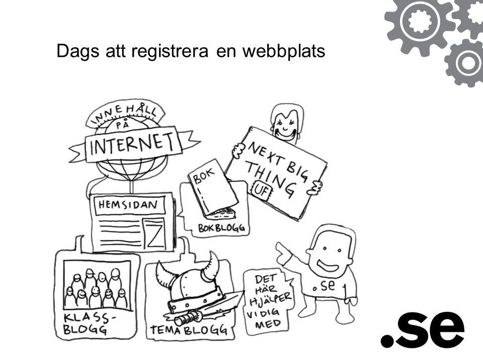 Dags att registrera en webbplats