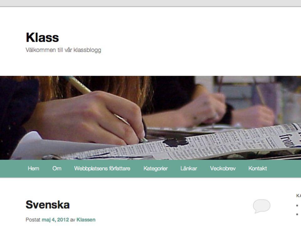klass.wpskola.se > arbetar med kategorier och elever är författare (dvs arbetar ej så mycket med statiska sidor och sajten baseras då på inlägg).