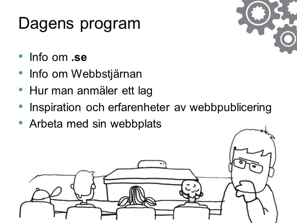 Dagens program Info om .se Info om Webbstjärnan