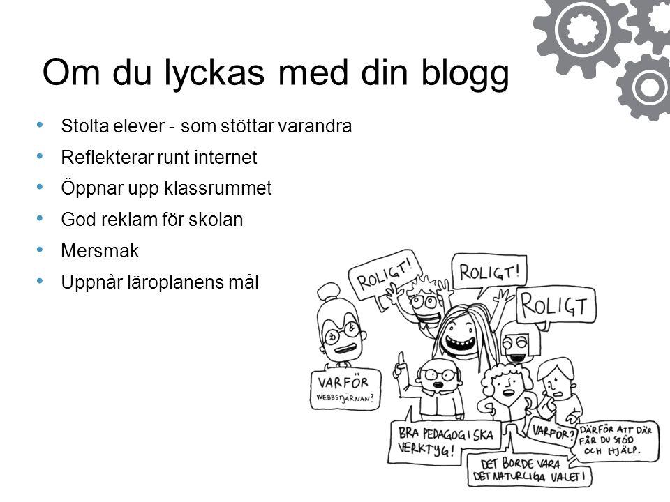 Om du lyckas med din blogg