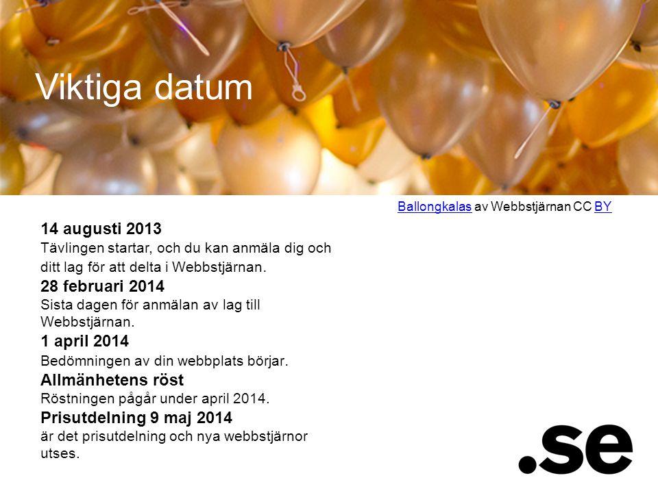 Viktiga datum Ballongkalas av Webbstjärnan CC BY.