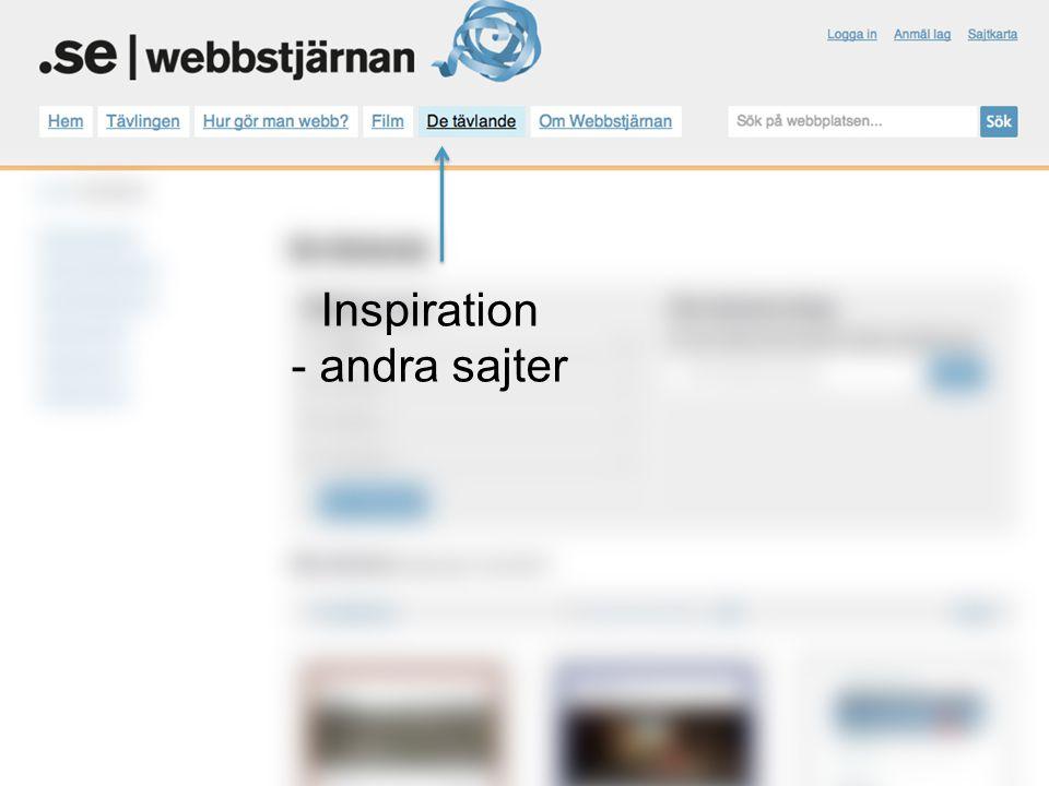 Inspiration - andra sajter