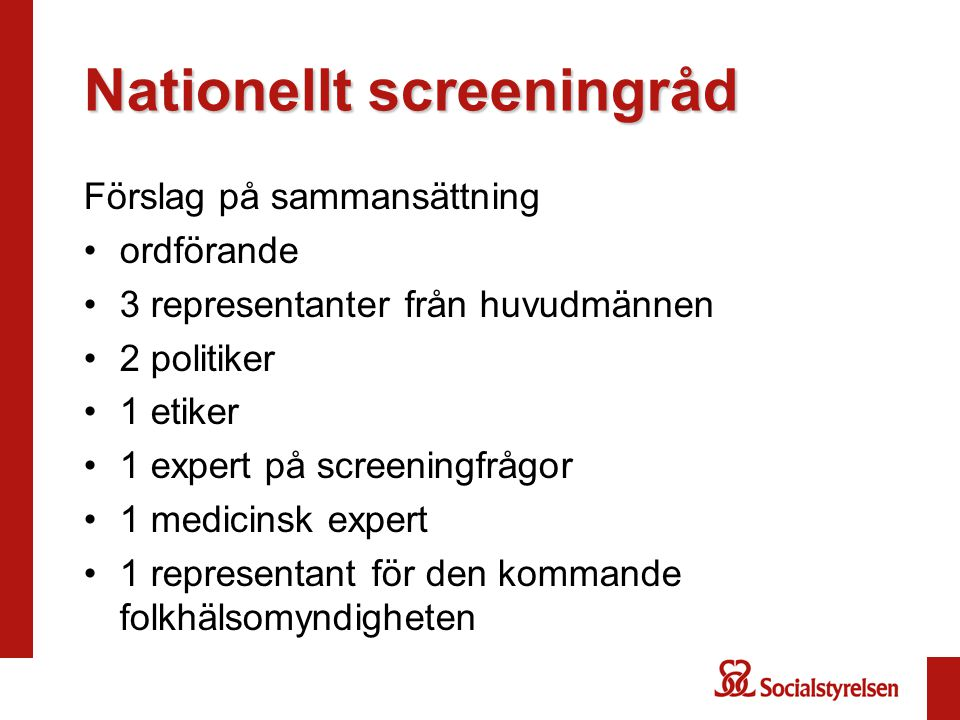 Nationellt screeningråd