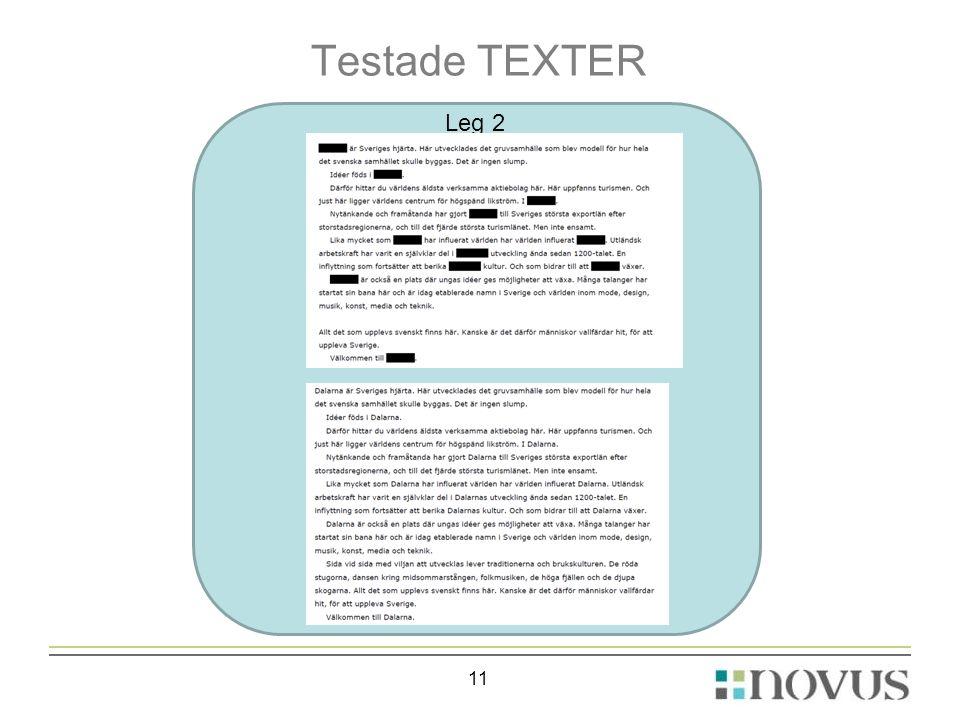 Testade TEXTER Leg 2 11
