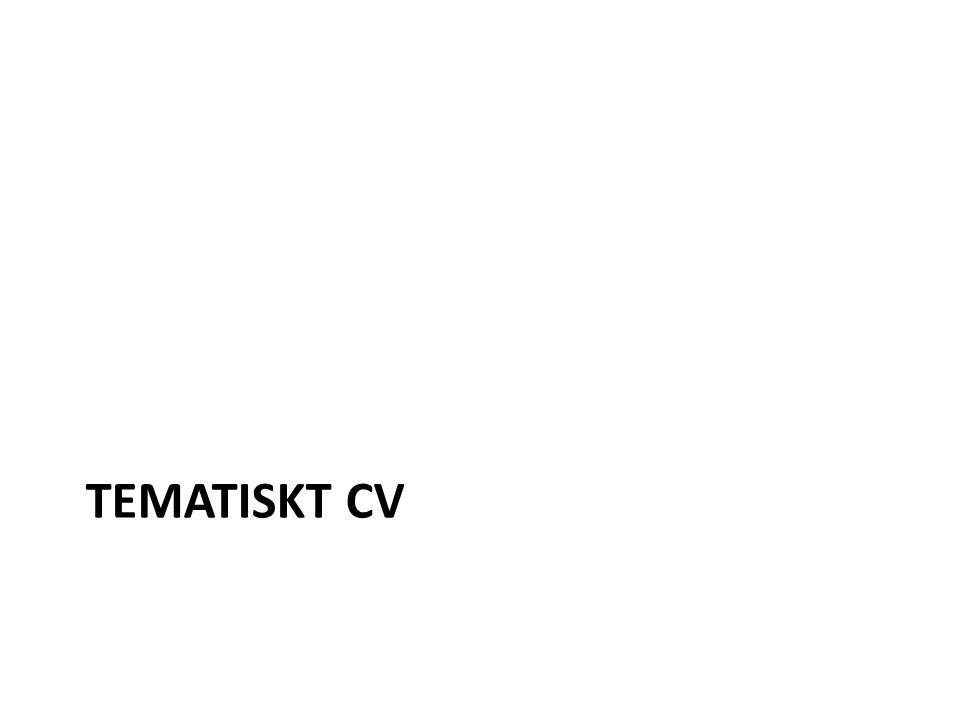 TEMATISKT CV