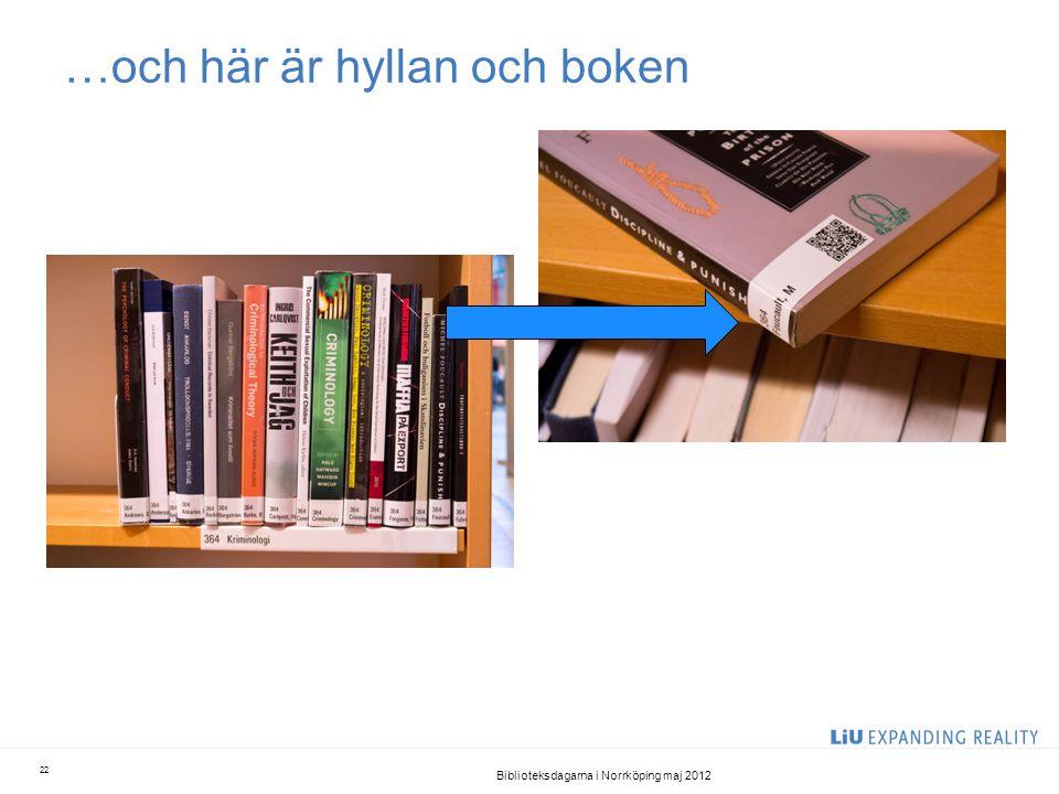 …och här är hyllan och boken