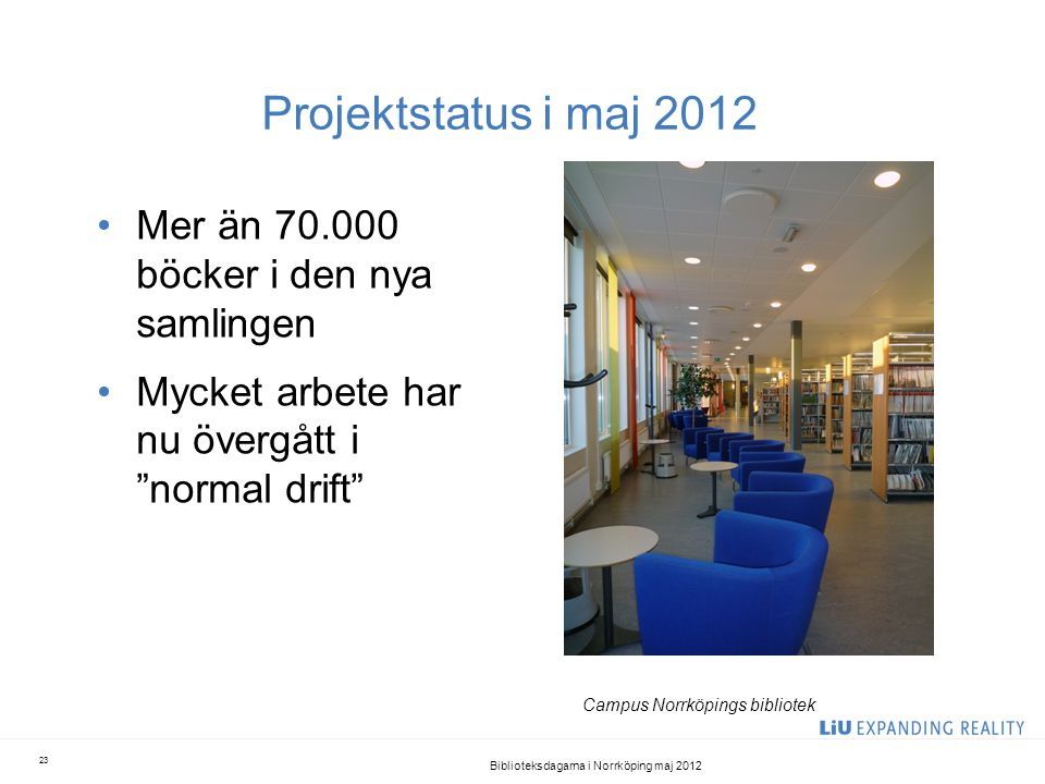 Biblioteksdagarna i Norrköping maj 2012