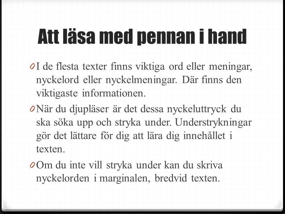 Att läsa med pennan i hand
