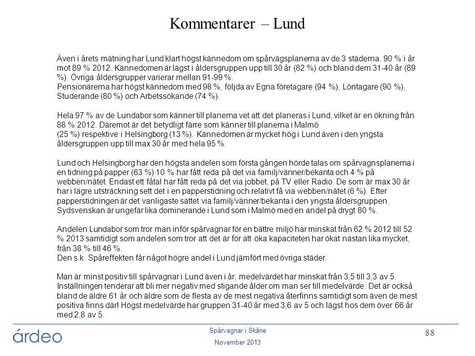 Kommentarer – Lund