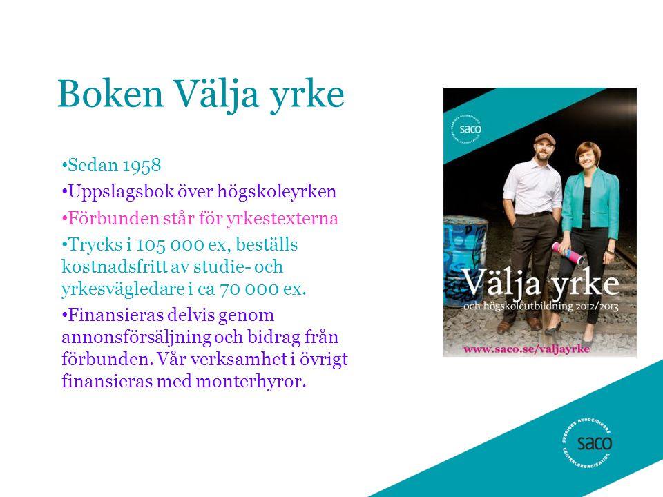 Boken Välja yrke Sedan 1958 Uppslagsbok över högskoleyrken