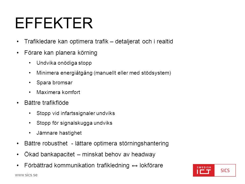 Effekter Trafikledare kan optimera trafik – detaljerat och i realtid