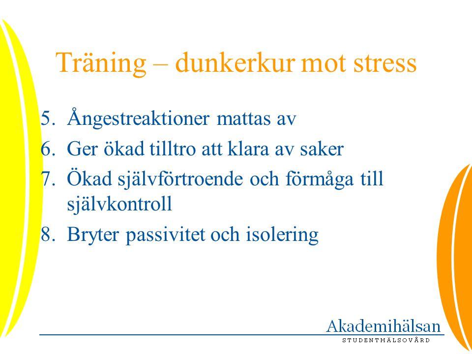 Träning – dunkerkur mot stress