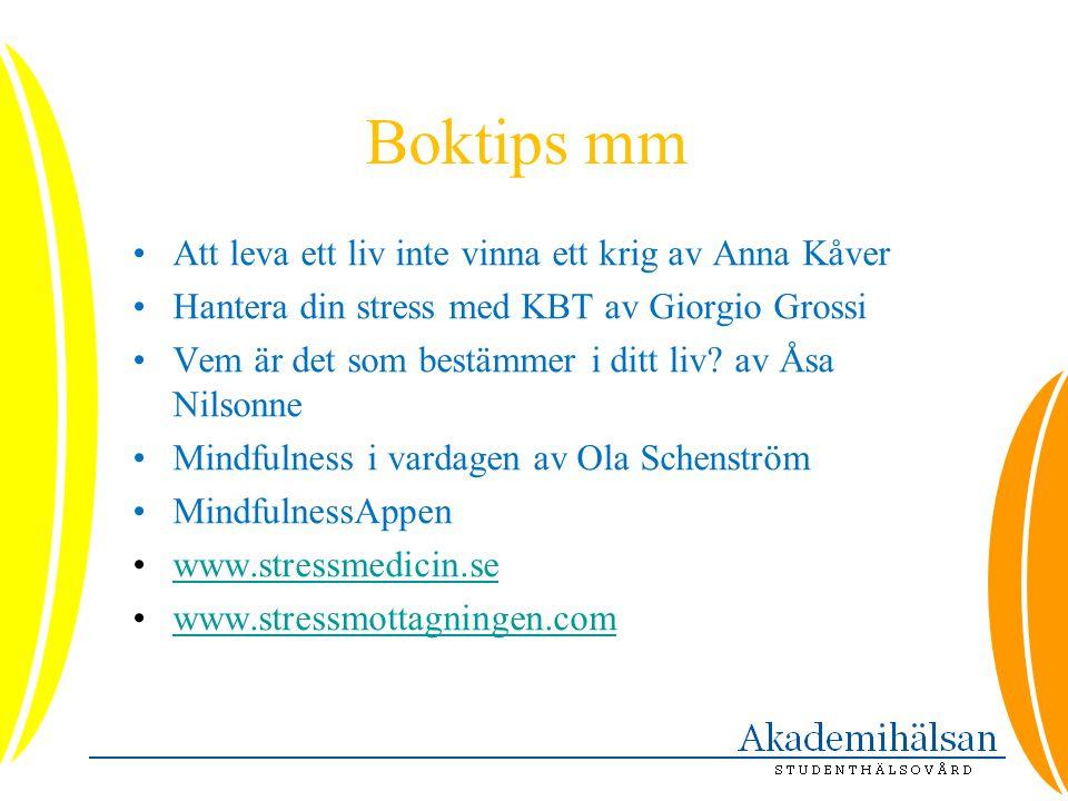 Boktips mm Att leva ett liv inte vinna ett krig av Anna Kåver