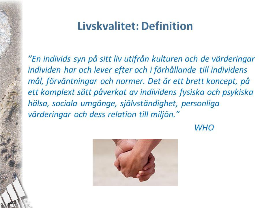 Livskvalitet: Definition