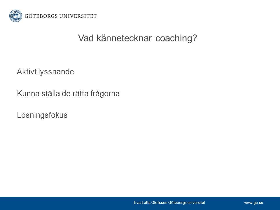 Vad kännetecknar coaching