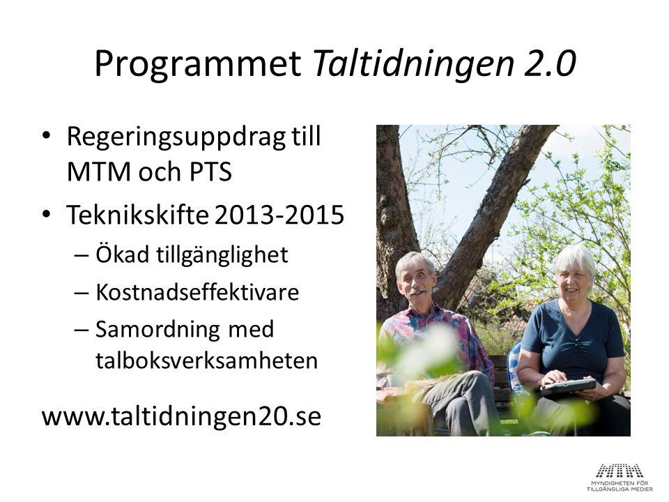 Programmet Taltidningen 2.0