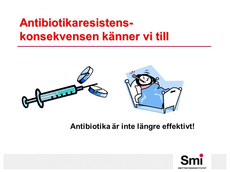 Antibiotikaresistens- konsekvensen känner vi till