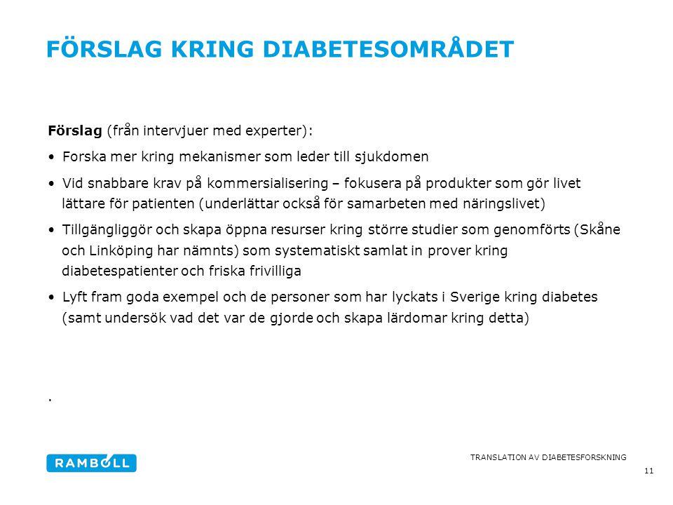 Förslag kring diabetesområdet