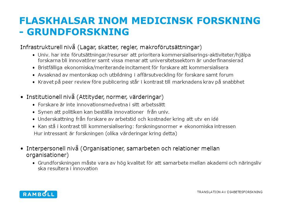 FLASKHALSAR inom medicinsk forskning - Grundforskning