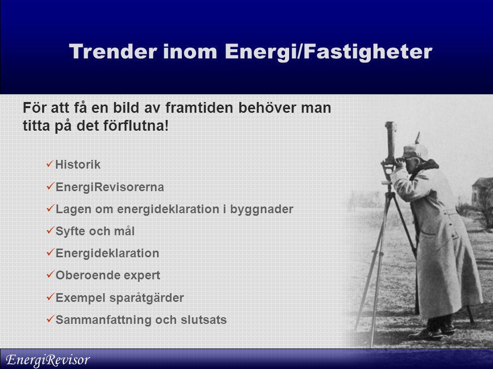 Trender inom Energi/Fastigheter