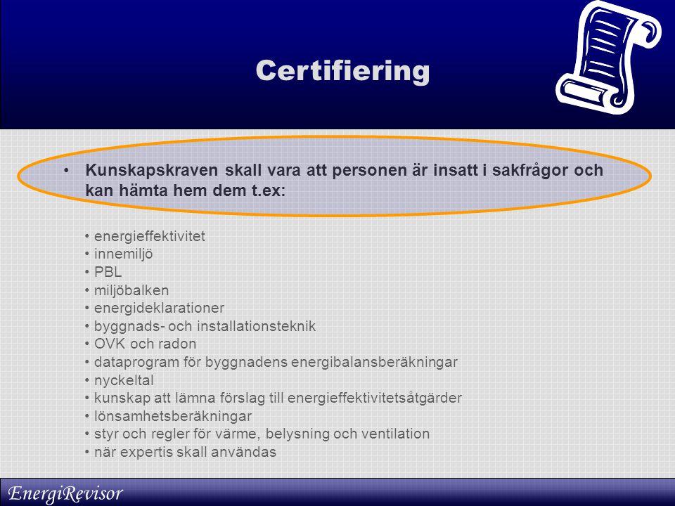 Certifiering EnergiRevisor