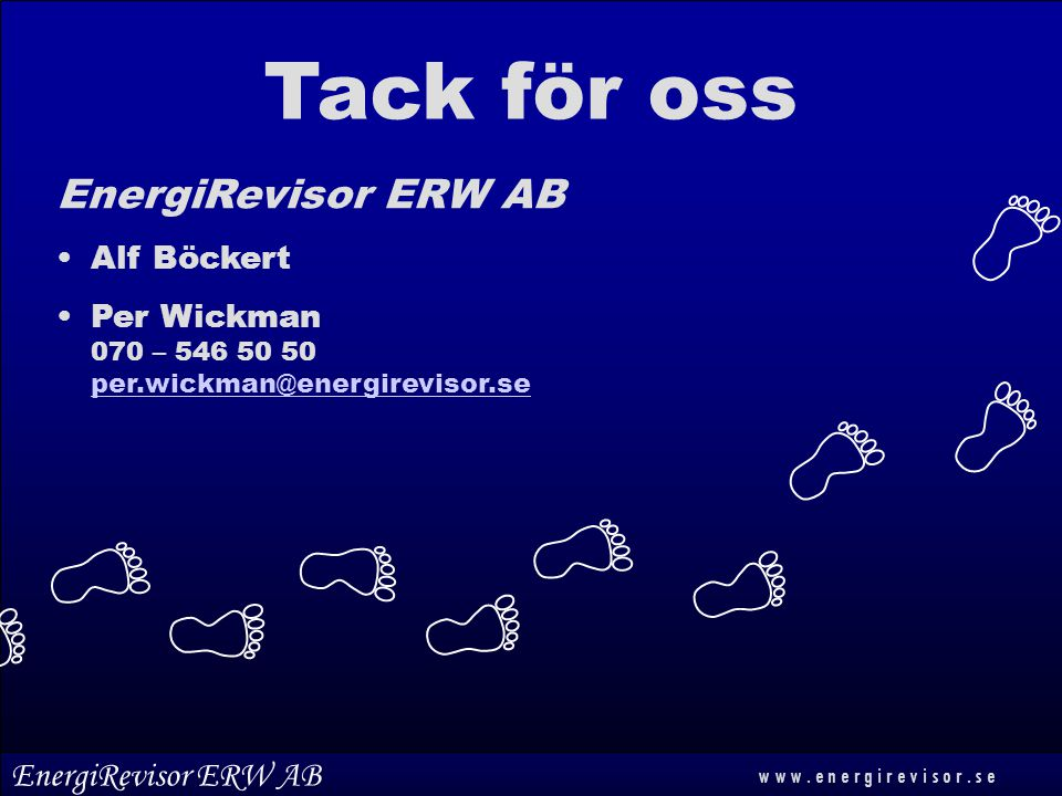 Tack för oss EnergiRevisor ERW AB EnergiRevisor ERW AB Alf Böckert