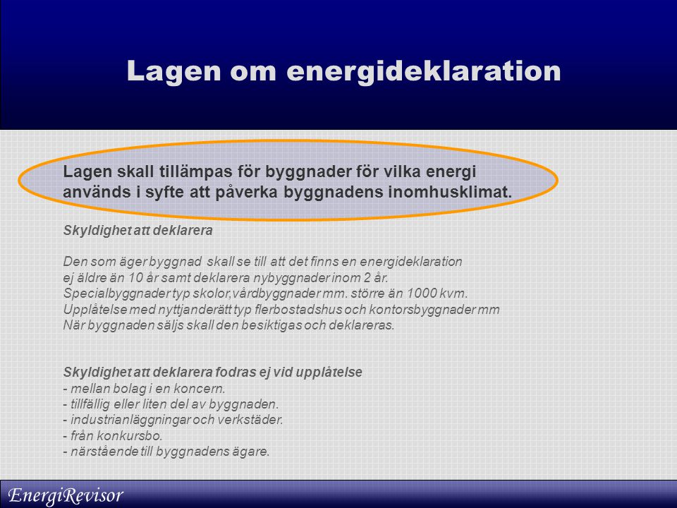 Lagen om energideklaration