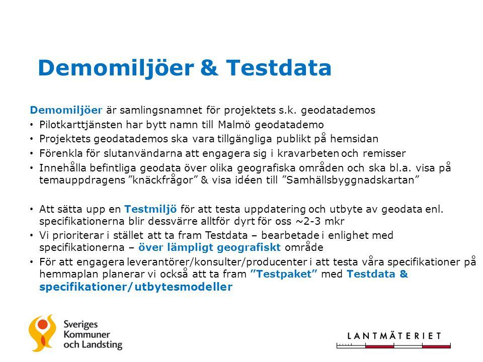 Demomiljöer & Testdata