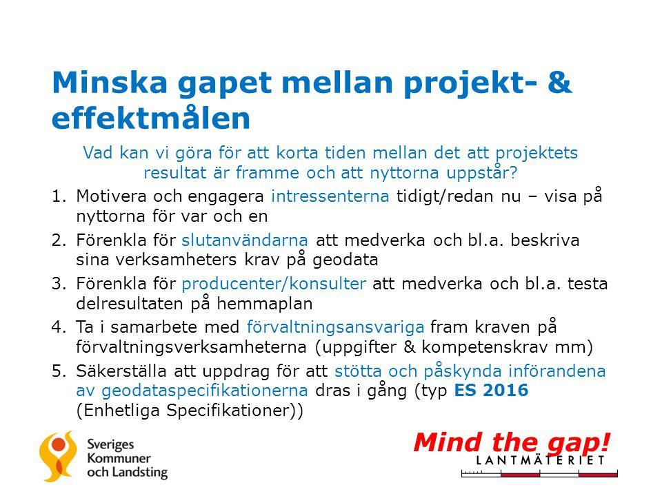Minska gapet mellan projekt- & effektmålen