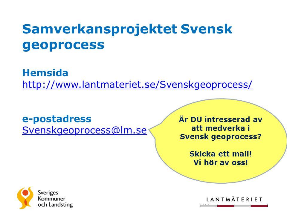 Är DU intresserad av att medverka i Svensk geoprocess