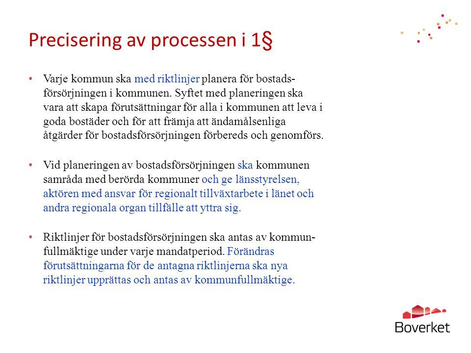 Precisering av processen i 1§