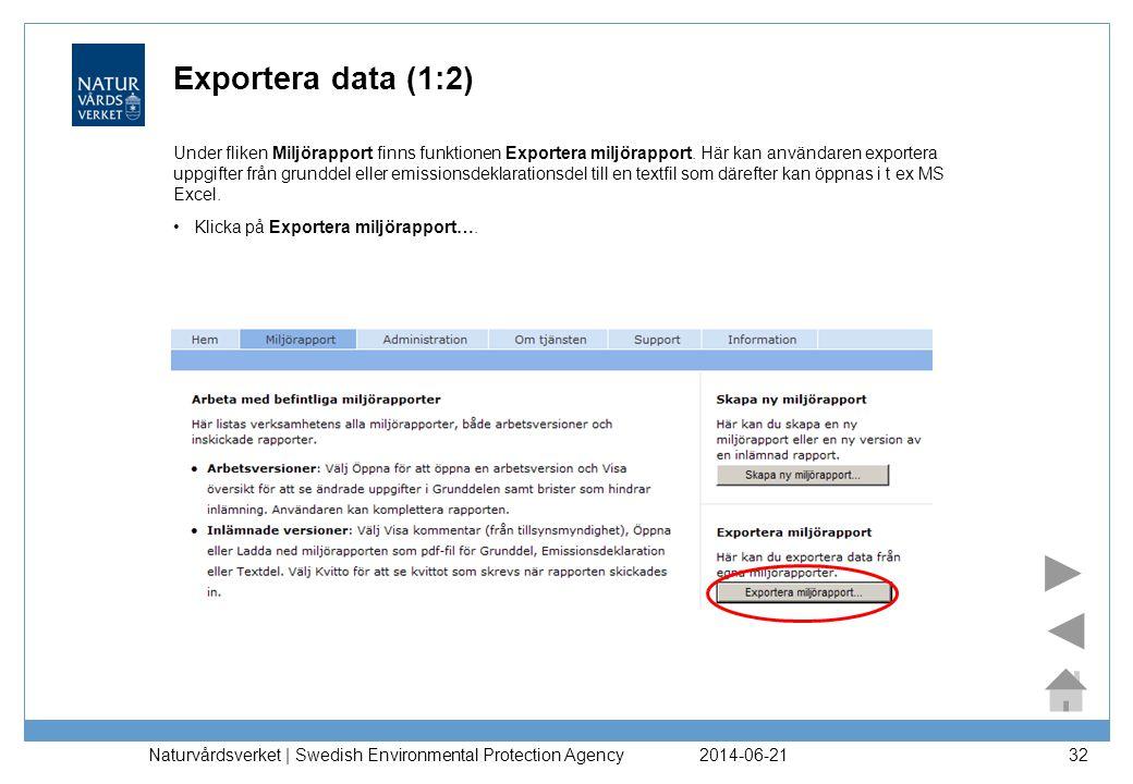Exportera data (1:2)